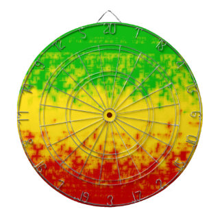 Rough Rasta Design Dartboard With Darts