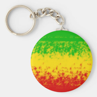 Rough Rasta Design Keychain