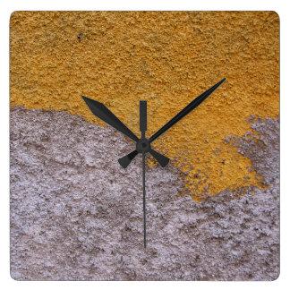 Rough Raw Beton Construction Wall No Digits Square Wall Clock