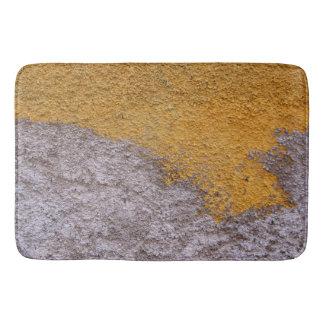 Rough Raw Beton Construction Wall Yelllow Gray Bath Mat