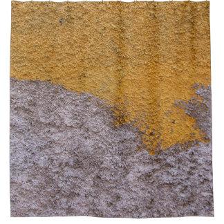Rough Raw Beton Construction Wall Yelllow Gray Shower Curtain