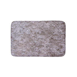 Rough Raw Beton Gray Construction Wall Bath Mat