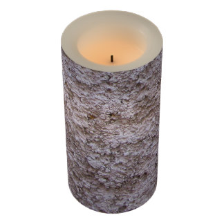 Rough Raw Beton Gray Construction Wall Flameless Candle