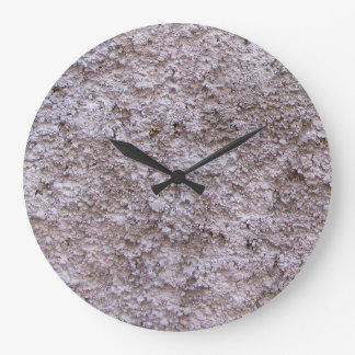Rough Raw Beton Gray Construction Wall No Digits Large Clock