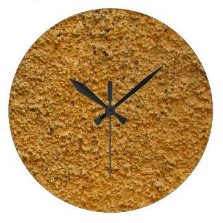 Rough Raw Beton Yellow Construction Wall No Digits Large Clock