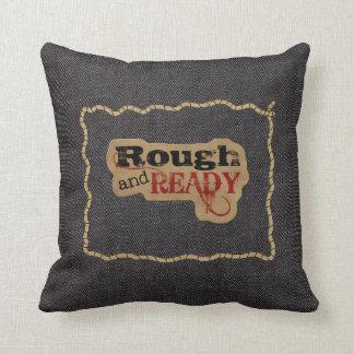 Rough Ready Rope Frame Print MoJo Throw Pillow