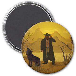Rough Rider 3 Inch Round Magnet