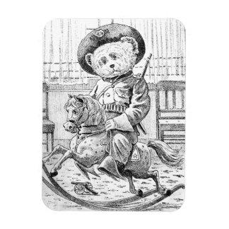 Rough Rider Teddy Bear on Rocking Horse Rectangular Photo Magnet