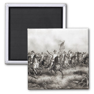 Rough Riders: Colonel Theodore Roosevelt 2 Inch Square Magnet