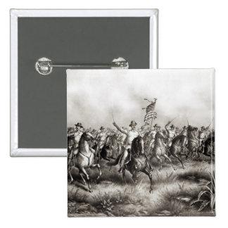 Rough Riders: Colonel Theodore Roosevelt 2 Inch Square Button