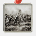 Rough Riders: Colonel Theodore Roosevelt Square Metal Christmas Ornament