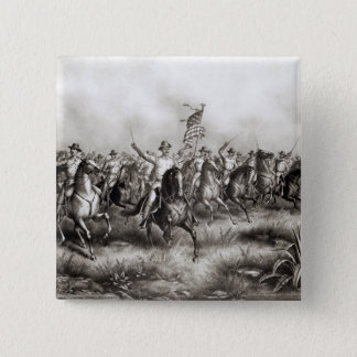 Rough Riders: Colonel Theodore Roosevelt Pinback Button