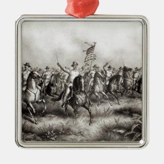 Rough Riders: Coronel Theodore Roosevelt Adorno Navideño Cuadrado De Metal