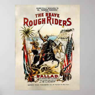 Rough Riders - impresión Póster