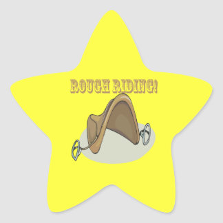 Rough Riding Star Sticker