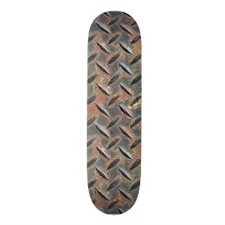 Rough rusted metal design by James Black Custom Skate Board