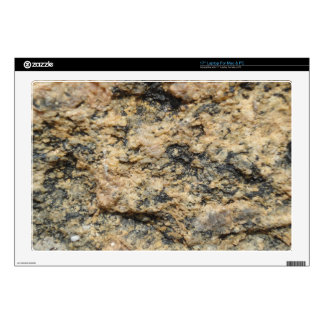 """rough sandy stone surface. 17"""" laptop decal"""