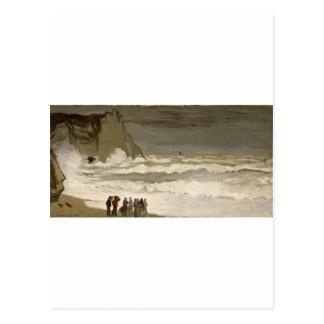 Rough Sea at Etretat (1868-1869) Postcard