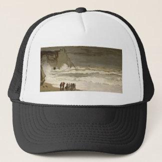 Rough Sea at Etretat (1868-1869) Trucker Hat