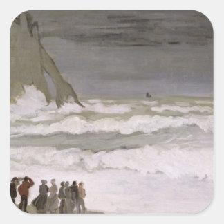Rough Sea at Etretat, 1868-69 Square Stickers