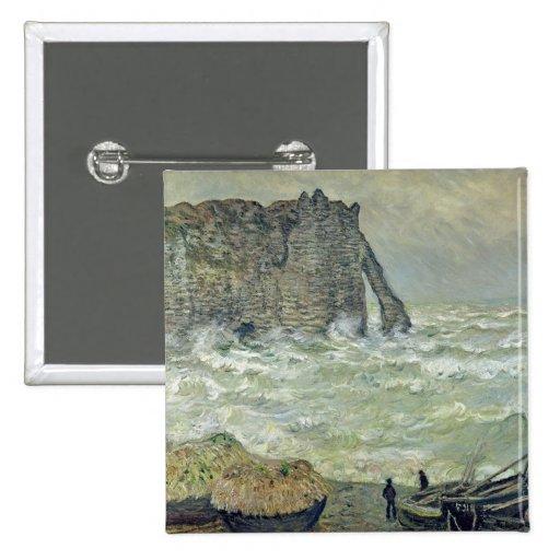 Rough Sea at Etretat, 1883 Button