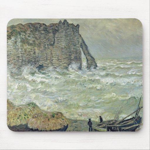 Rough Sea at Etretat, 1883 Mousepad