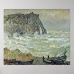 Rough Sea at Etretat, 1883 Poster