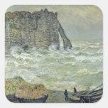 Rough Sea at Etretat, 1883 Square Sticker