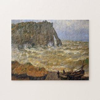 Rough Sea at Etretat Monet Fine Art Puzzle