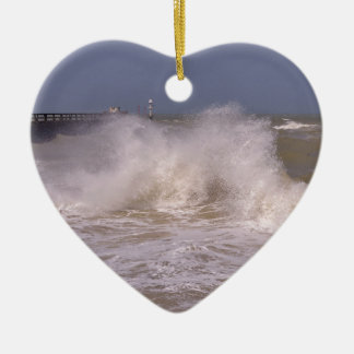 Rough sea at Grandcamp-Maisy Ceramic Ornament