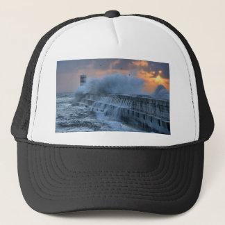 Rough sea at Porto, Portugal Trucker Hat