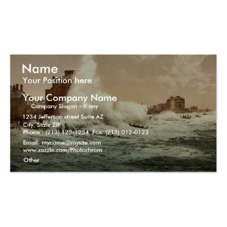 Rough sea, Bognor, England classic Photochrom Double-Sided Standard Business Cards (Pack Of 100)