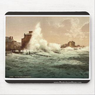 Rough sea, Bognor, England classic Photochrom Mouse Pad
