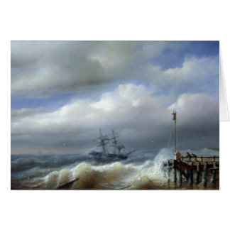 Rough Sea in Stormy Weather, 1846 Card