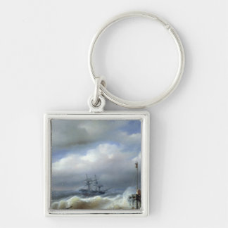 Rough Sea in Stormy Weather, 1846 Keychain
