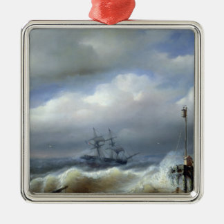 Rough Sea in Stormy Weather, 1846 Metal Ornament