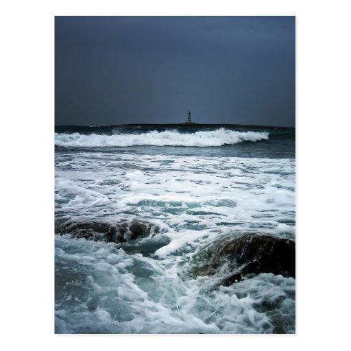 Rough sea, Menorca Postcard