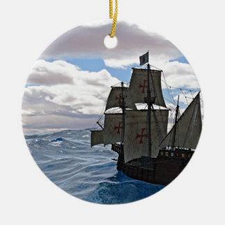 Rough Seas Ahead Ceramic Ornament