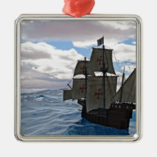 Rough Seas Ahead Metal Ornament
