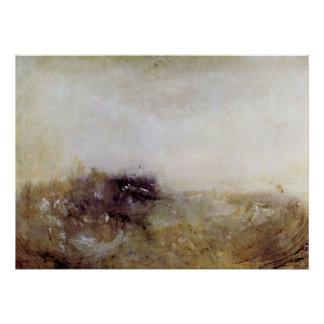 Rough Seas by Joseph Mallord Turner Poster