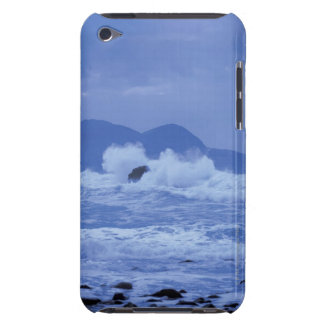 rough seas crashing against a rocky shore iPod touch cover