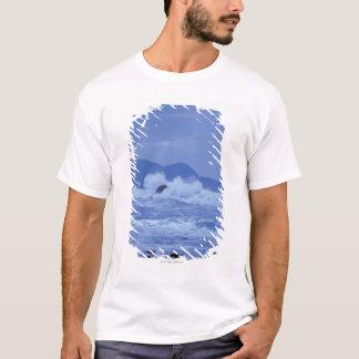 rough seas crashing against a rocky shore T-Shirt