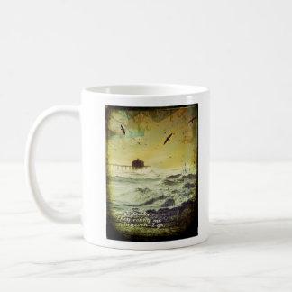"""Rough Seas"" Surf Inspired Digital Art Collage Mug"