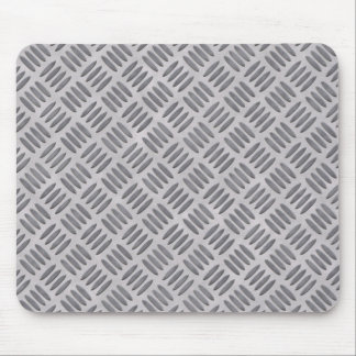 Rough silver metal plate masculine slate gray mouse pad