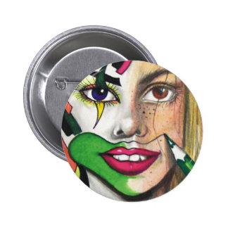 Rough Sketch Clown Button