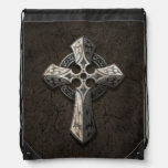 Rough Stone Gothic Cross with Tribal Inlays Backpack