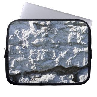 Rough Stone Texture, White Brick Laptop Computer Sleeves