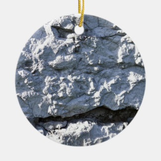 Rough Stone Texture, White Brick Christmas Ornament