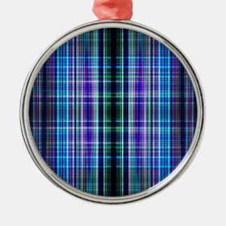 Rough stripes pattern metal ornament