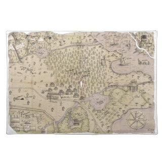 Rough Terrain Map Place Mats